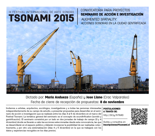 Convocatoria seminario Tsonami 2015